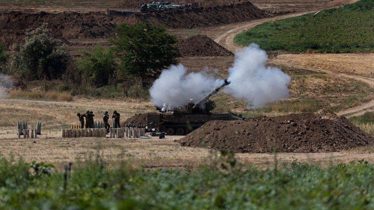 Israel artillery fires toward Gaza Strip on May 18, 2021