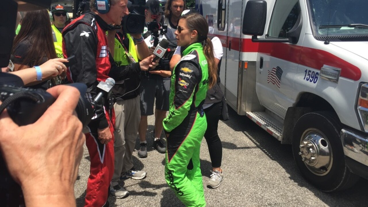 Danica Patrick ends her racing career after hitting the wall in Lap 68 of the Indy 500