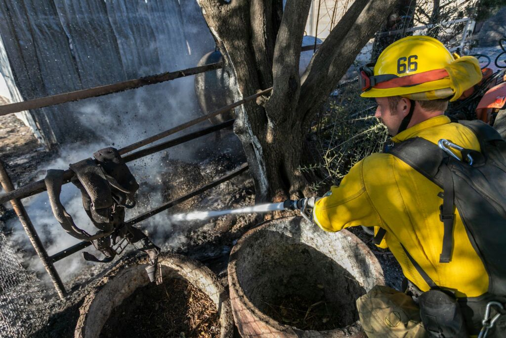 """""""Extreme"""" Santa Ana Winds Spark New Wildfires In Southern California"""
