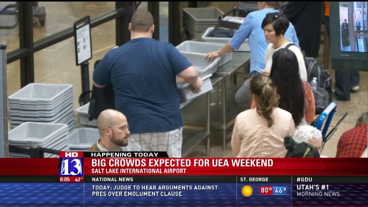Pack patience, leave early if you're flying from SLC airport duringUEA