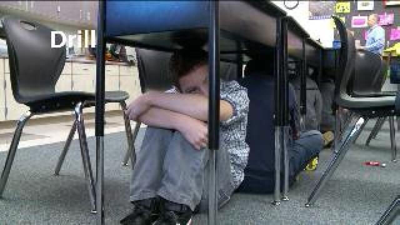 Students participate in 'Great Utah Shakeout' earthquake drill