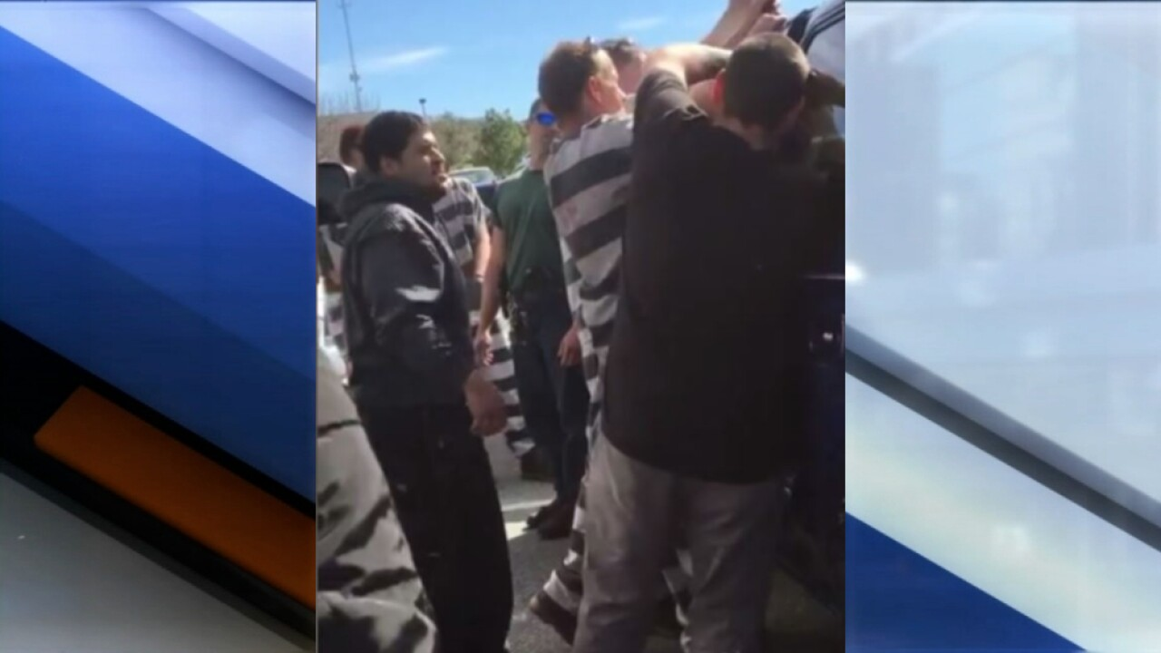 Inmates in Florida jump into action and help deputies rescue baby from locked car