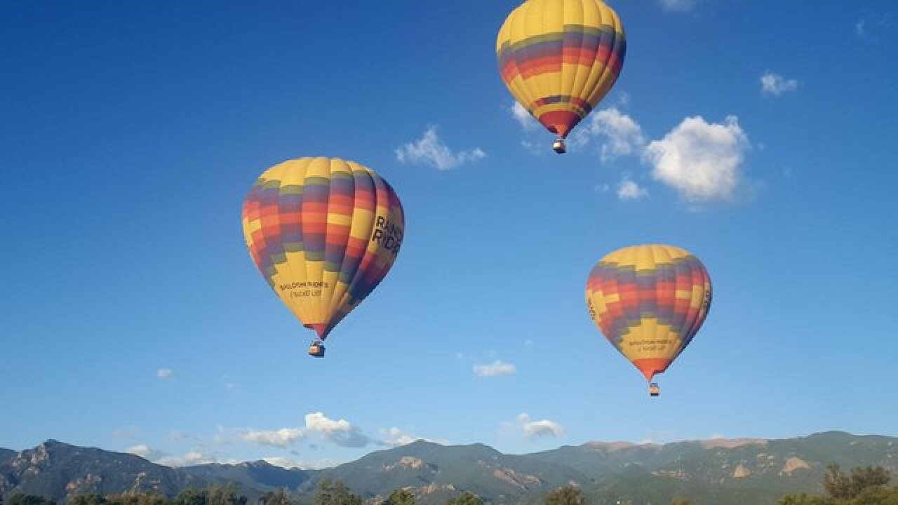Army of hot air balloons celebrates Labor Day