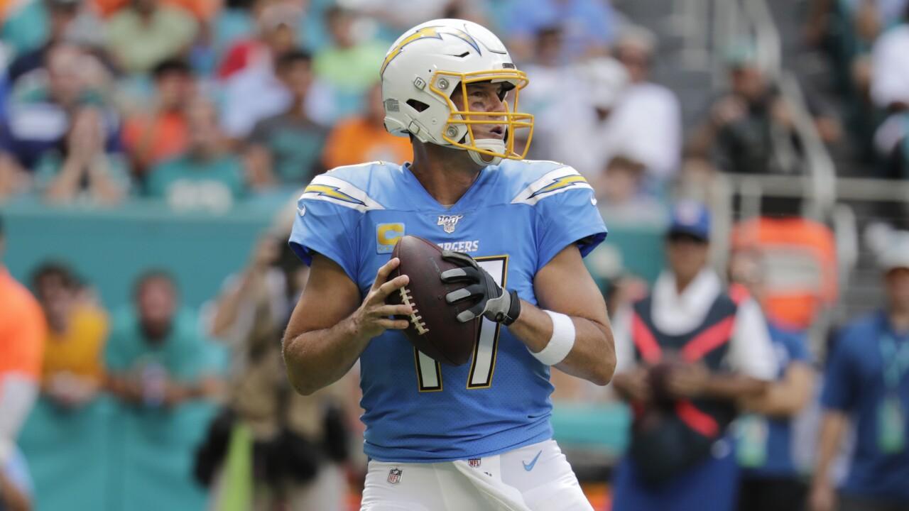Phillip Rivers passes vs. Miami Dolphins 2019