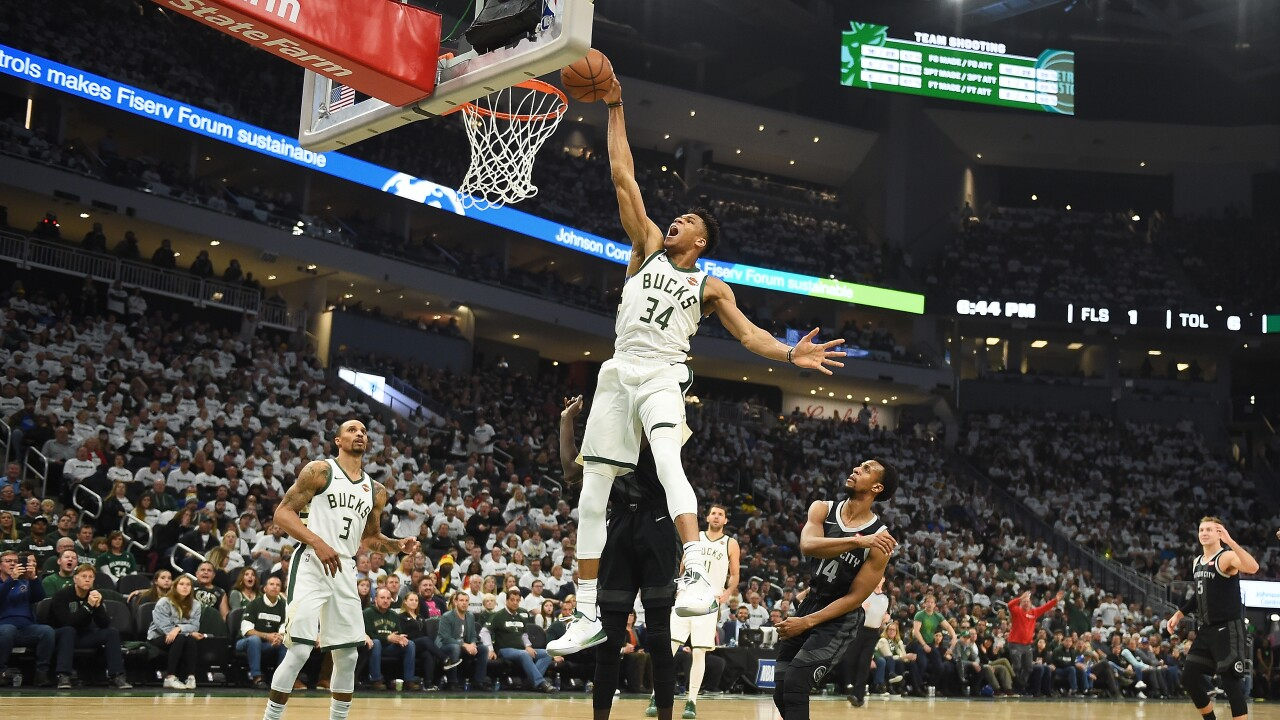 Giannis_Antetokounmpo_Detroit Pistons v Milwaukee Bucks - Game One