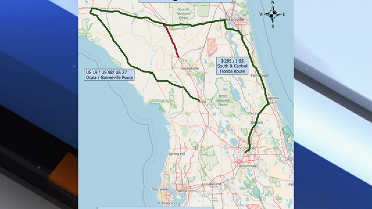 Map Of Us 27 In Florida.I 75 Will Remain Open As Flood Waters Recede Around Santa Fe River