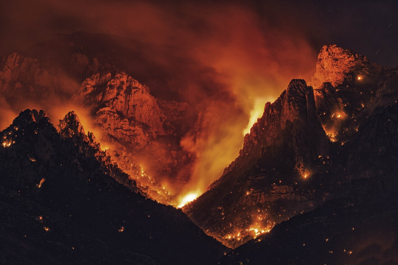 """""""Bighorn Fire in the Catalina Mountains"""" by Chenyu Li"""
