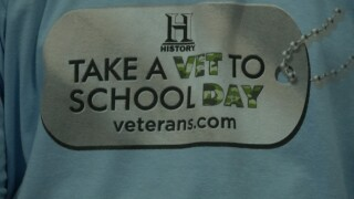 """Giant Springs Elementary School hosts """"Take a Vet to School Day"""""""