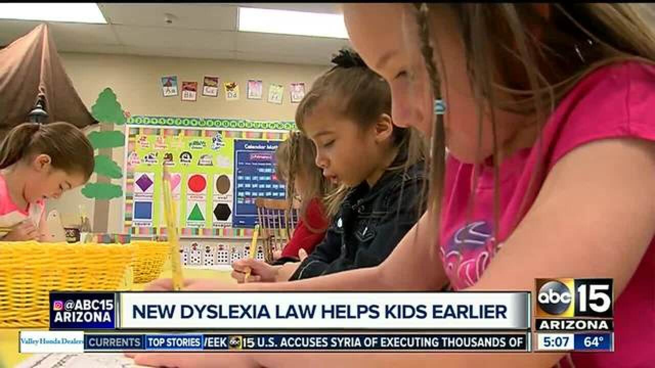 Legislation to aid kids struggling with dyslexia