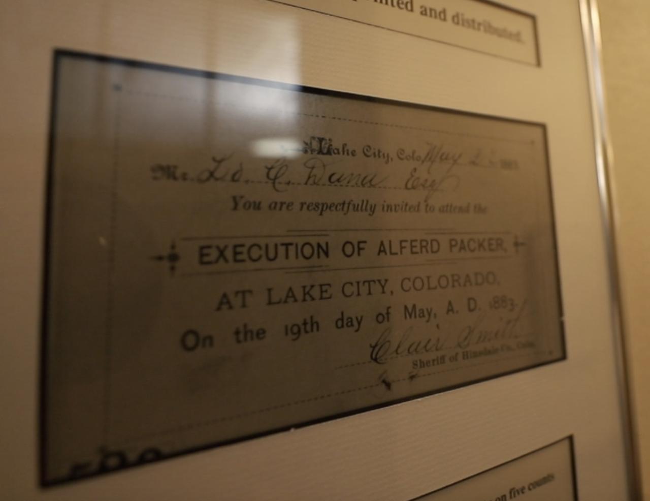 Alferd Packer_invitation to execution
