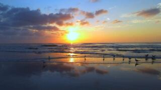 Sunrise Over the Gulf - Photo By: FB Coastal Bend Weather Watcher Marvin Amaraldo