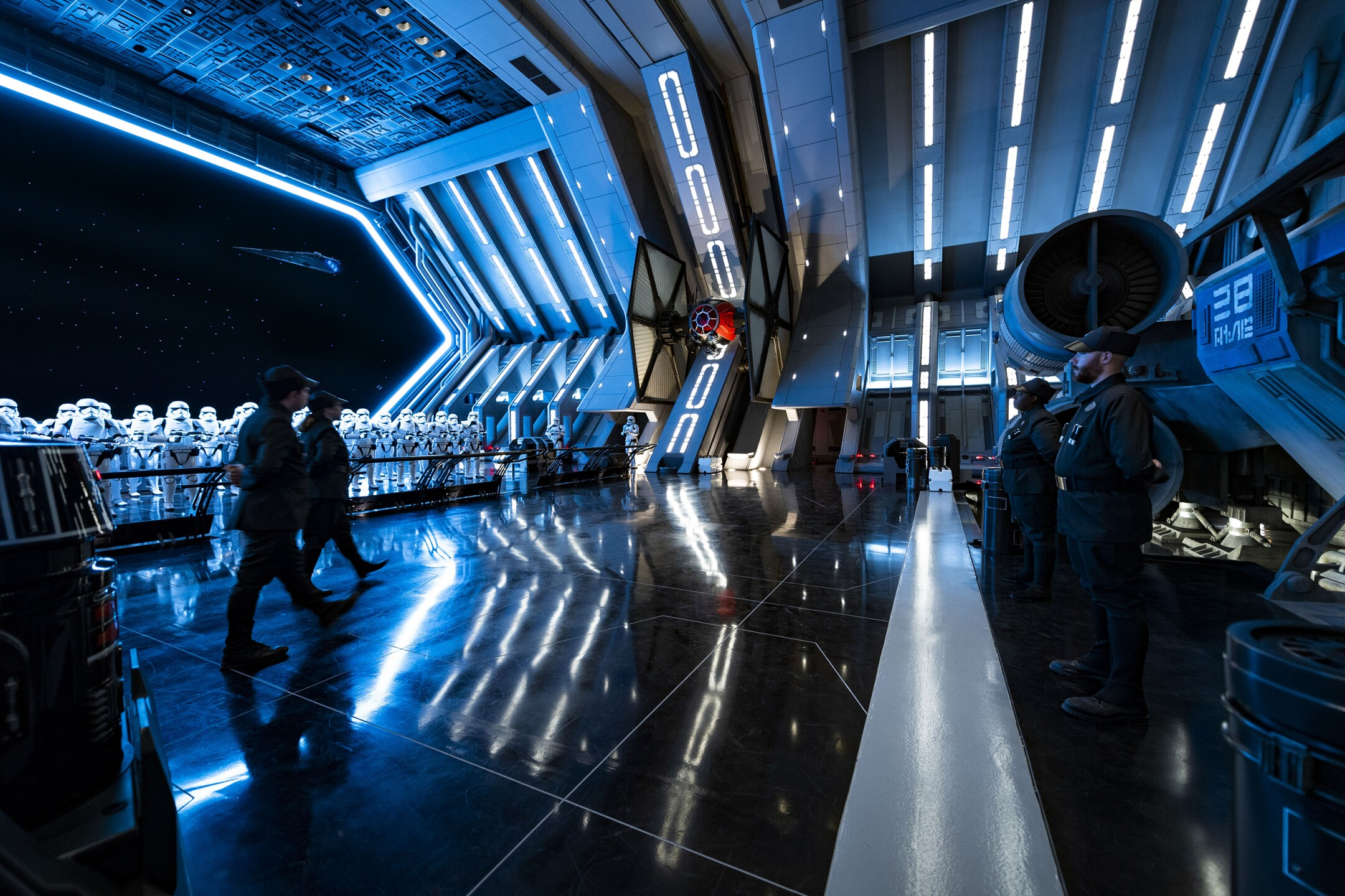 Star Destroyer Hangar Bay in Star Wars: Rise of the Resistance