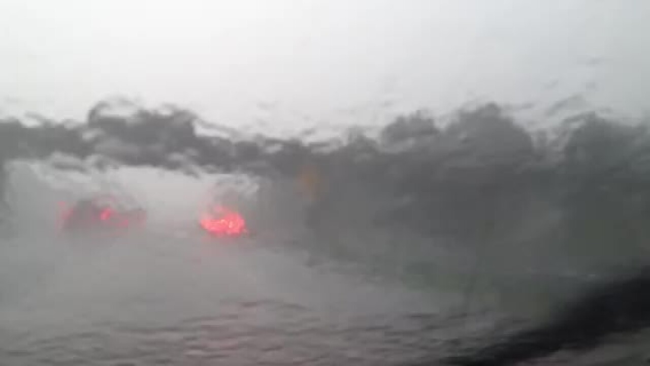 Raw Video: Heavy rain on I-664
