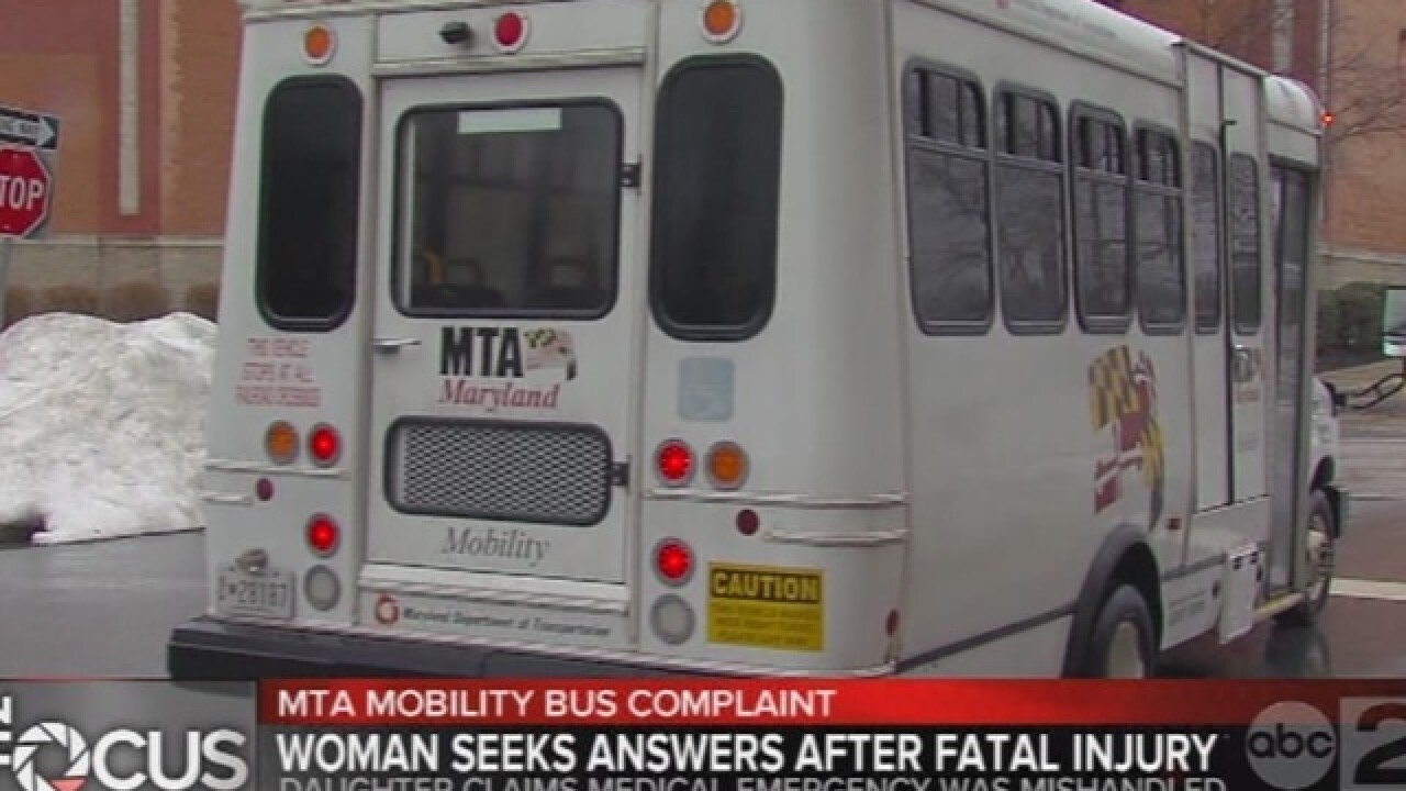Woman seeks answers after fatal fall on MTA bus