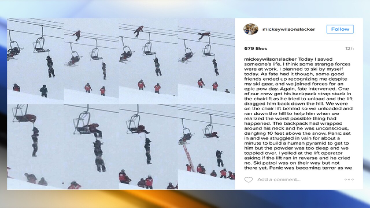 Harrowing chairlift rescue captured at A-Basin