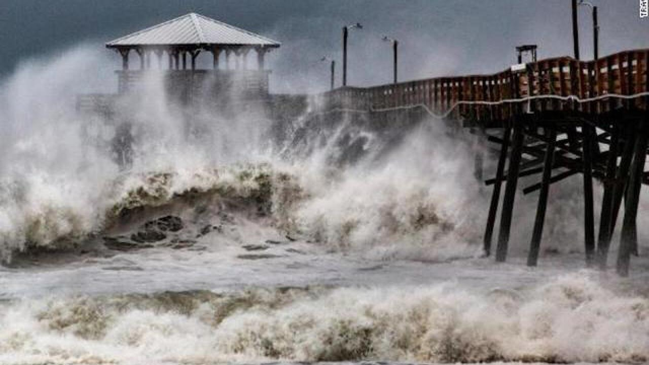 Hurricane Florence pounds the Carolinas, water rescues underway