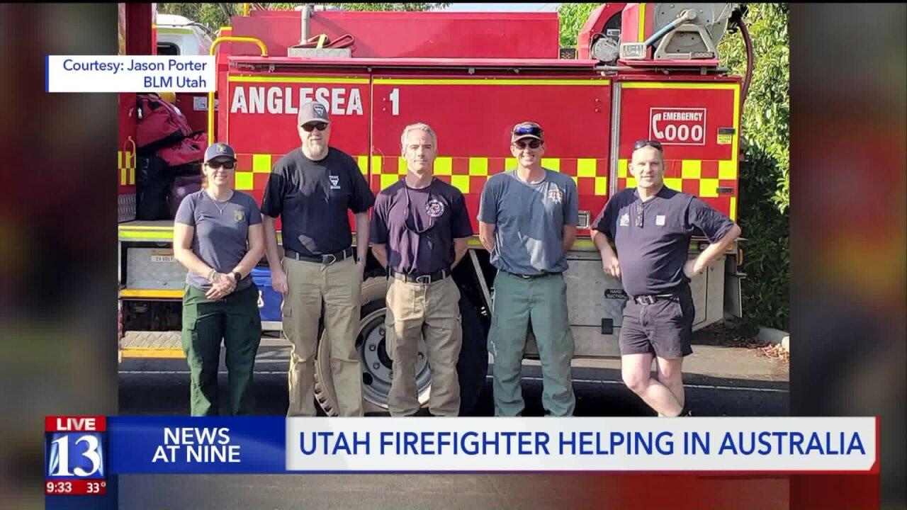 Utah's own seeing Australia brushfire devastationfirst-hand