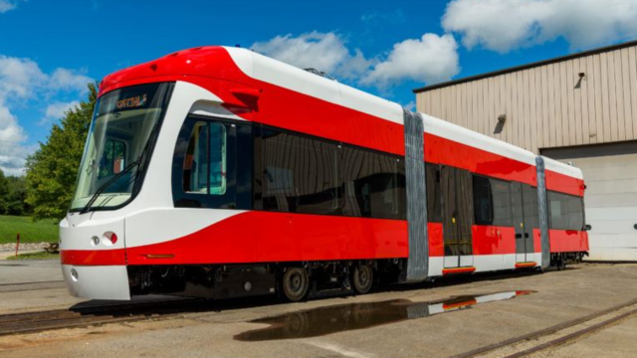 First QLINE street car to be delivered this week