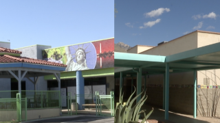 Compass High School (charter) and Canyon View Elementary School (traditional public) in the Tucson area.