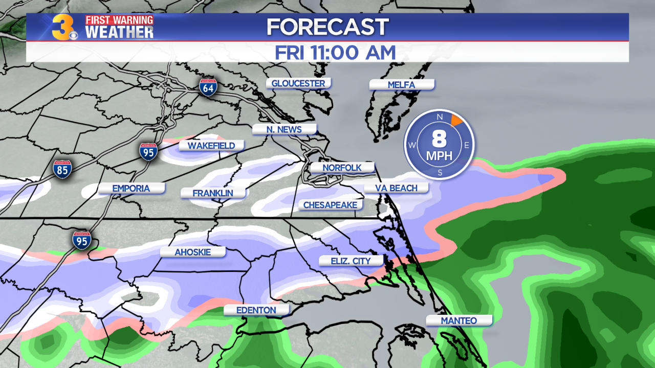 First Warning Forecast: Rain/snow mix possible Friday morning