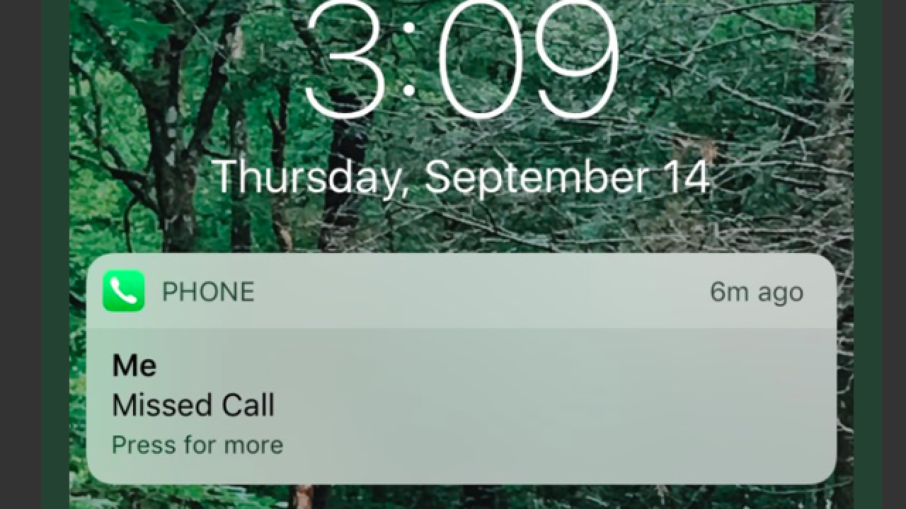 Scammers might call you from your own phone number