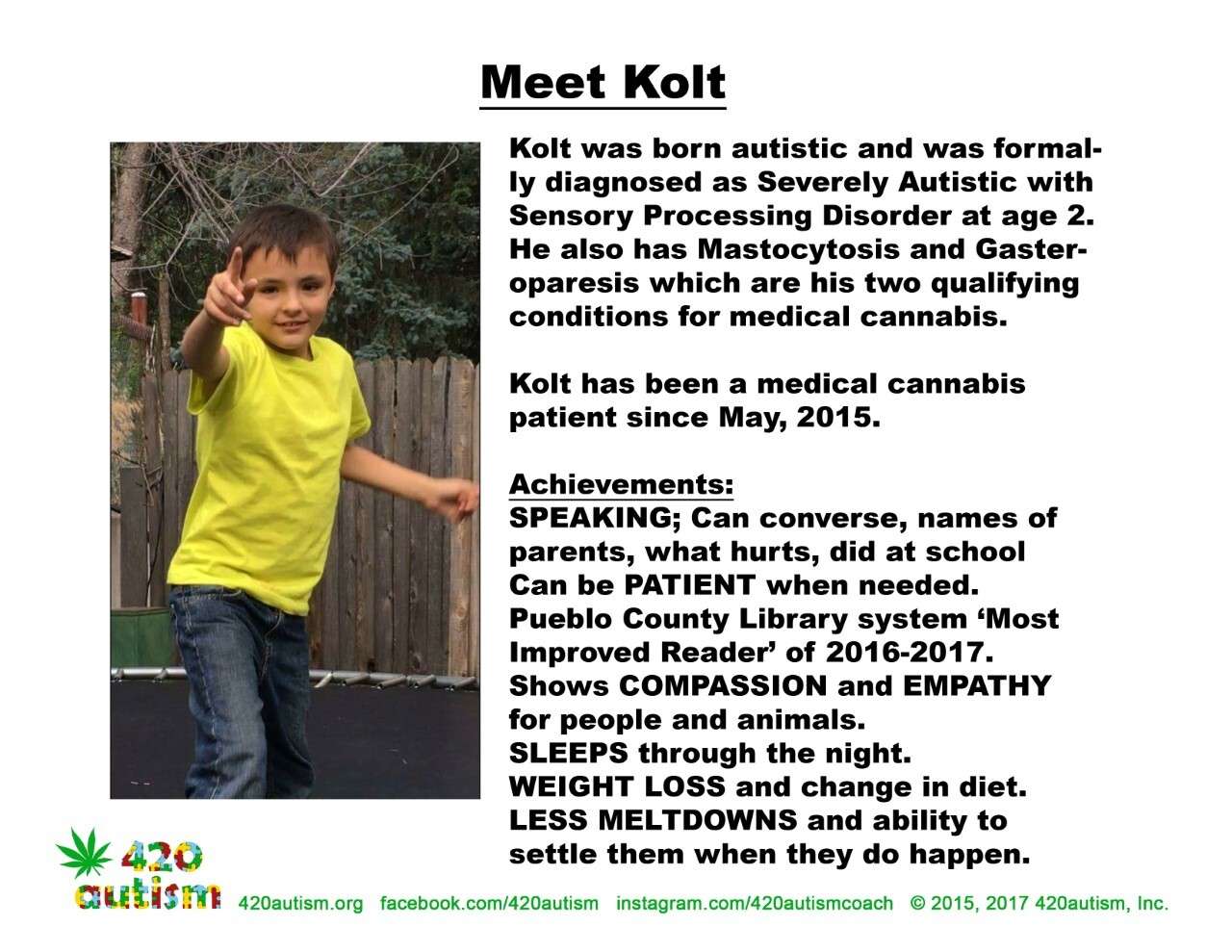 Kolt Kropp uses THC for his autism
