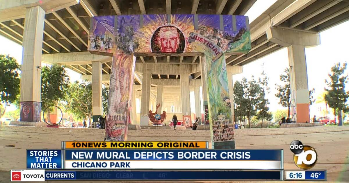 New Chicano Park mural depicts immigration crisis at border