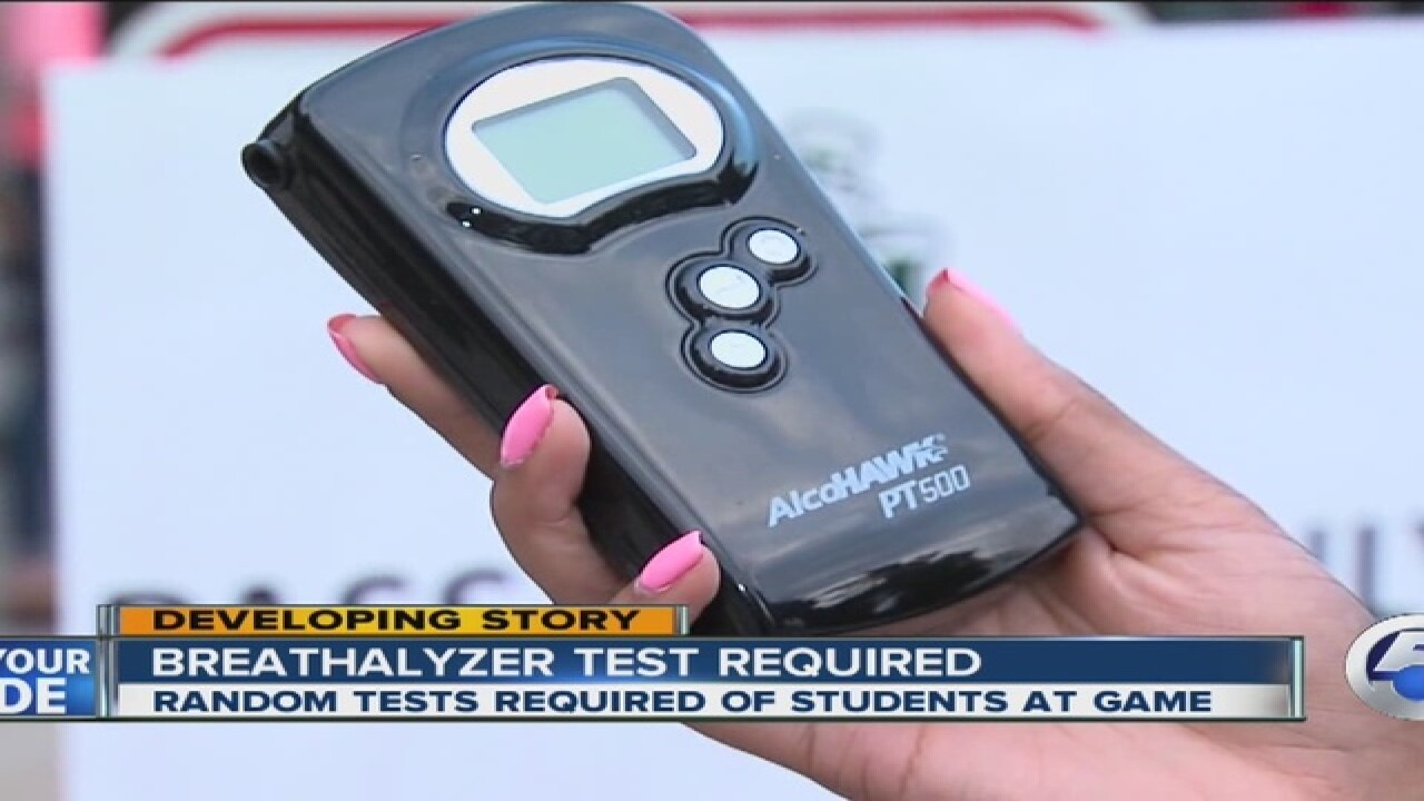Friday football Breathalyzers at Akron school