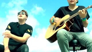 The Ries Brothers play the WPTV Helipad
