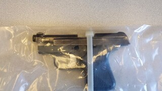 Gun confiscated from 19-year-old student.