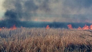 March 30 2021 fire in John Martin Reservoir State Wildlife Area