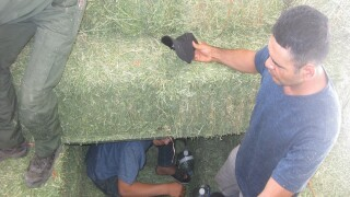 12 people discovered inside stack of hay at checkpoint, Border Patrol says