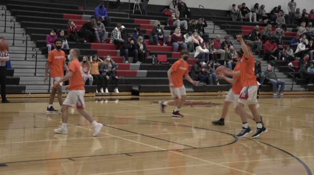 Marshall High School varsity team wearing #TeamTrevor shirts