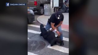 Viral social distancing arrest in Manhattan