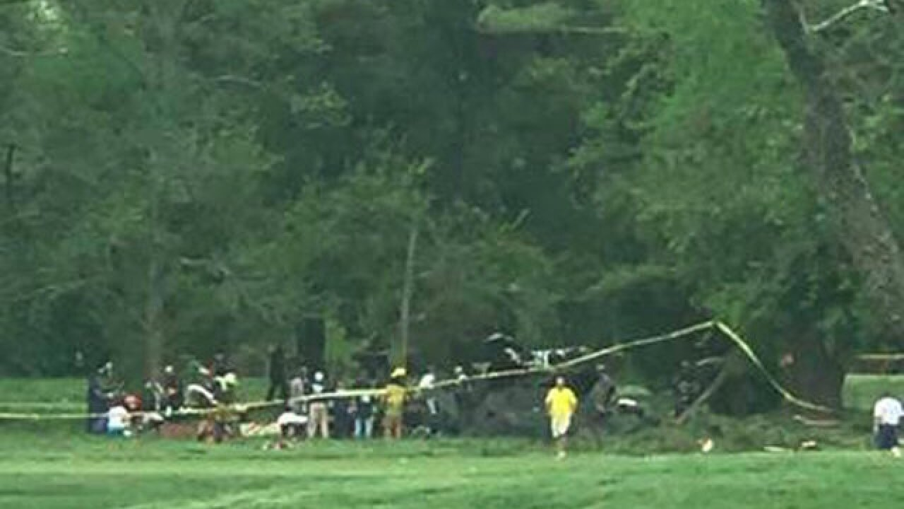 Military helicopter crashes in southern Maryland