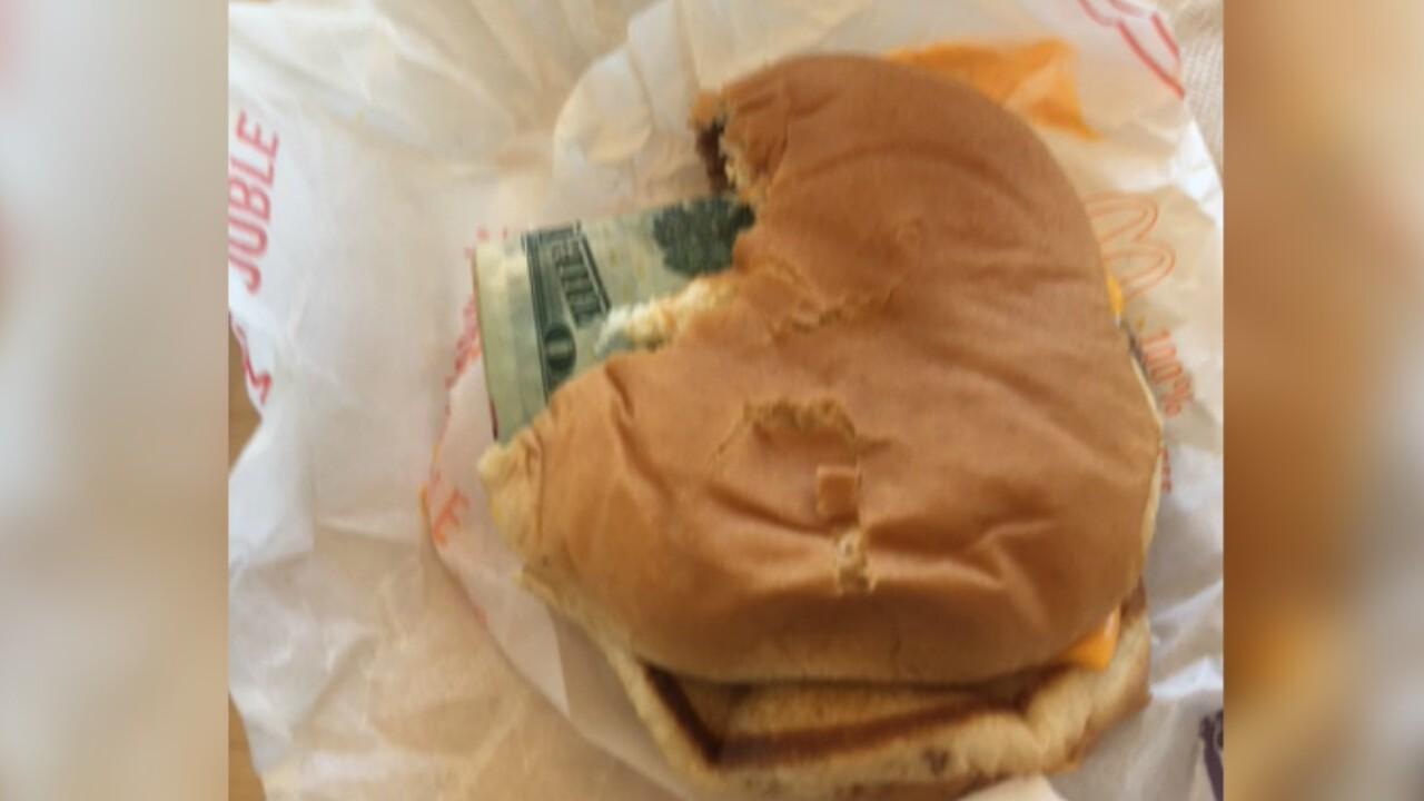 Man finds $20 bill inside McDonald's cheeseburger