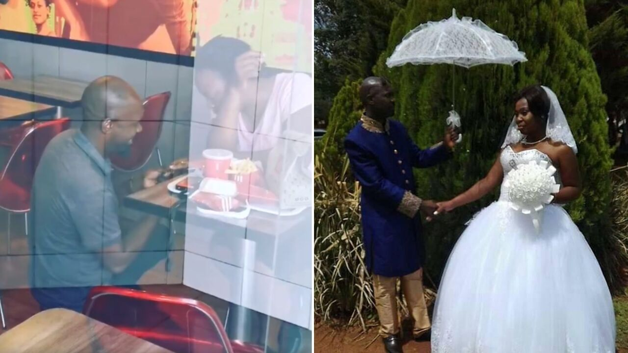 He was mocked for proposing in KFC, but the internet found them and gave them their dream wedding