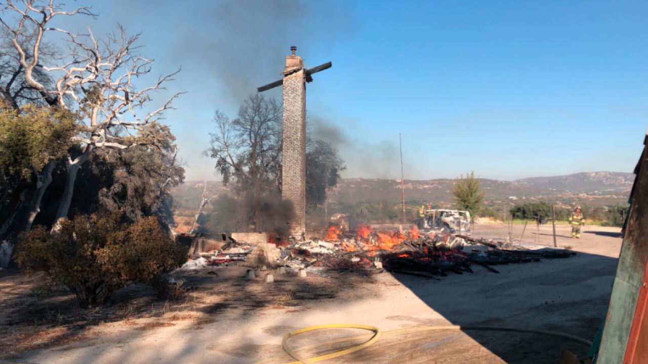 Campo house fire