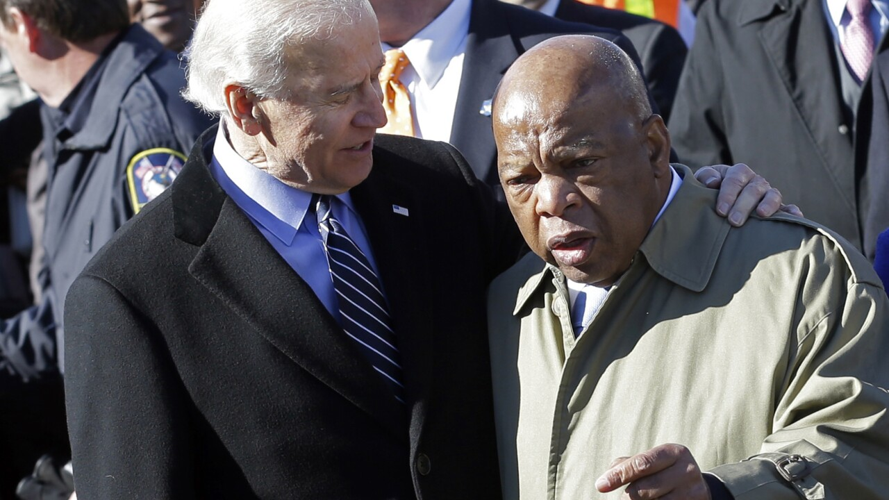 John Lewis, once Trump target, backs Joe Biden for president