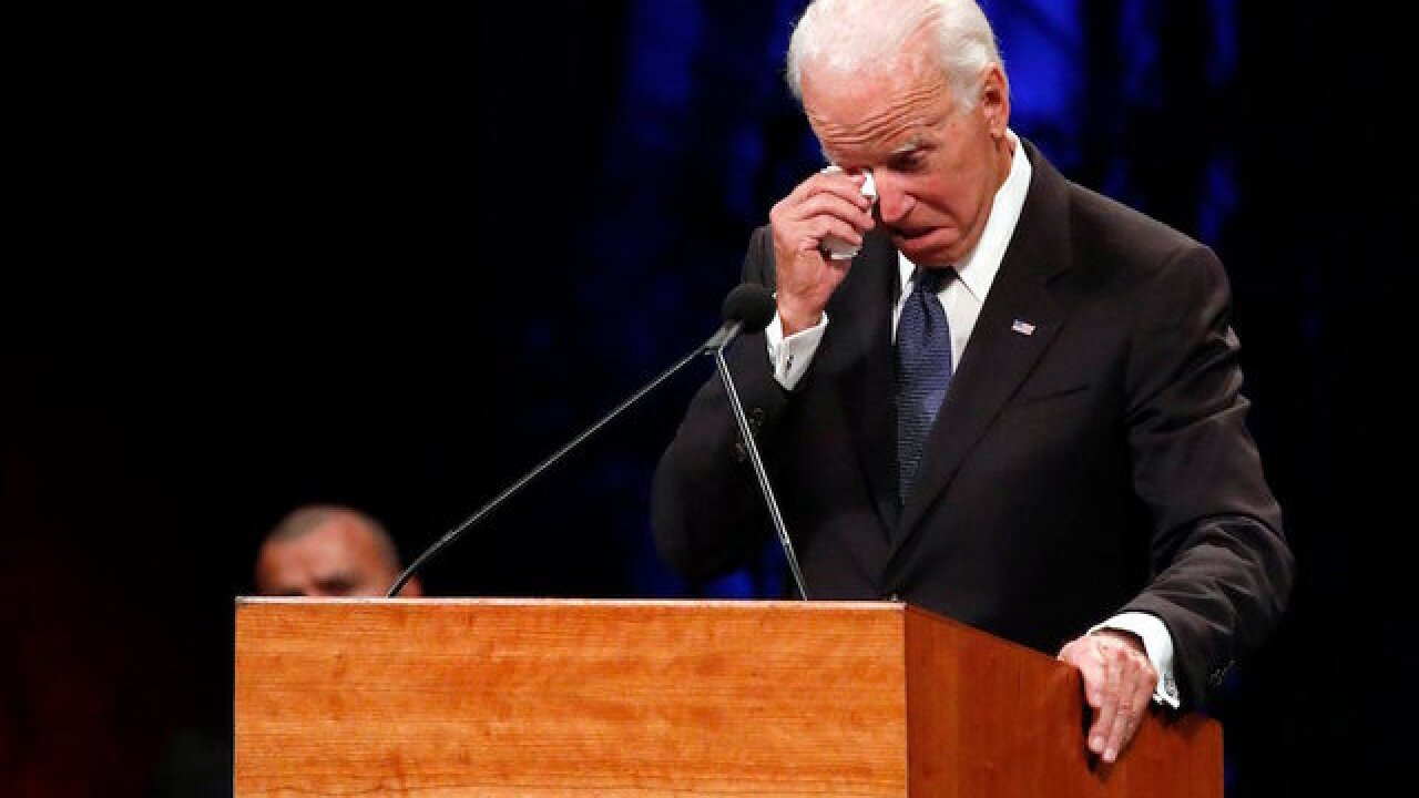 Biden laments Senate's division in eulogy for McCain