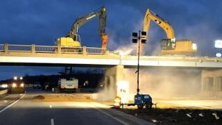 MDOT image of 100th St bridge demolition in April 2020.JPG