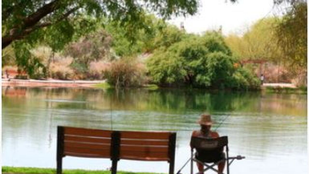 Families and fishermen are heading to community lakes as an outdoor outlet during the coronavirus pandemic. Countless federal, state and county waters have been deemed off-limits. Creidit: AP.