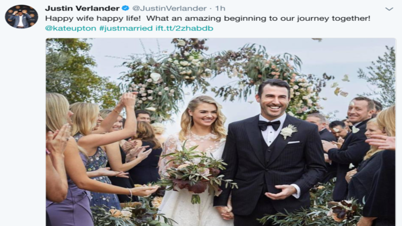 Justin Verlander, Kate Upton post wedding picture on social media