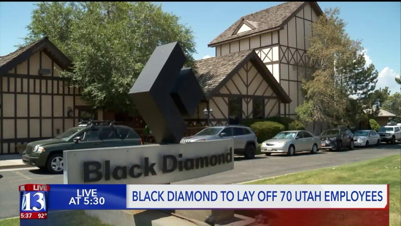 Black Diamond to lay off 70 Utah employees, move manufacturingoverseas