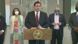 Gov. Ron DeSantis speaks in Apopka, July 17, 2020