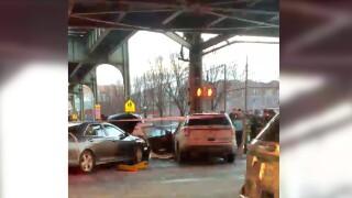 Cop car crash brooklyn
