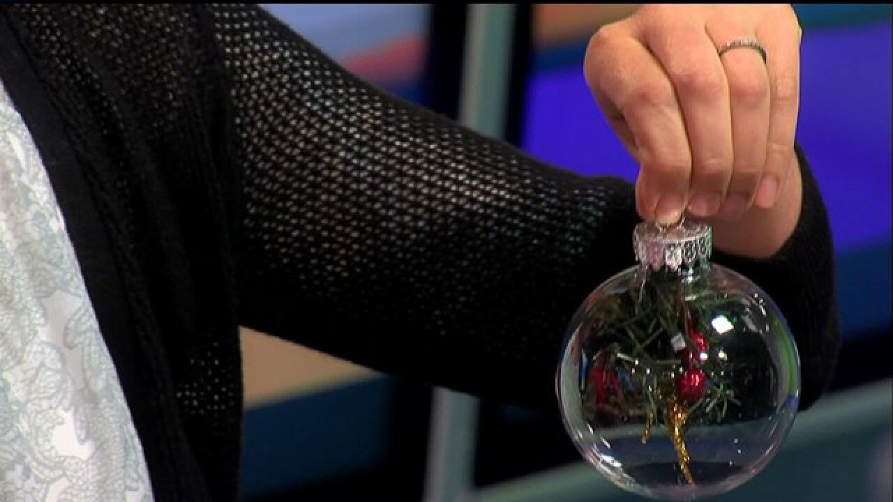Personalize your holiday decorations with homemade greenery ornaments