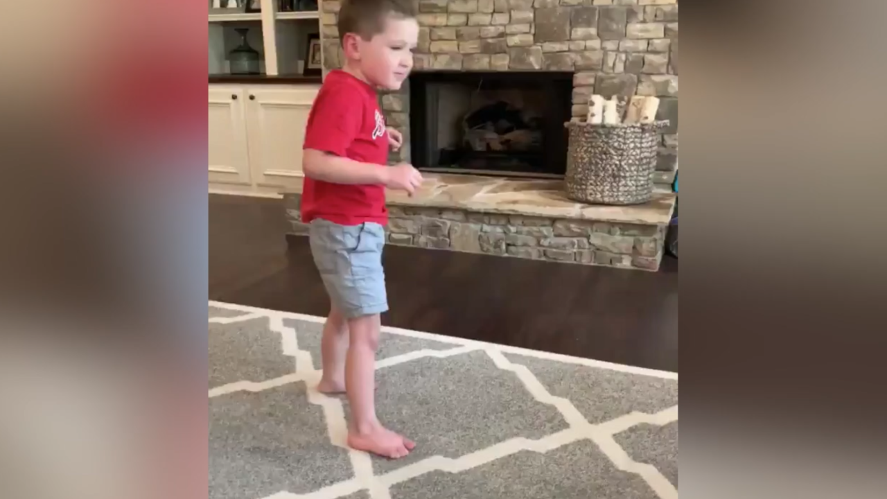 VIDEO: 5-year-old boy with brain condition inspires many with first solo steps