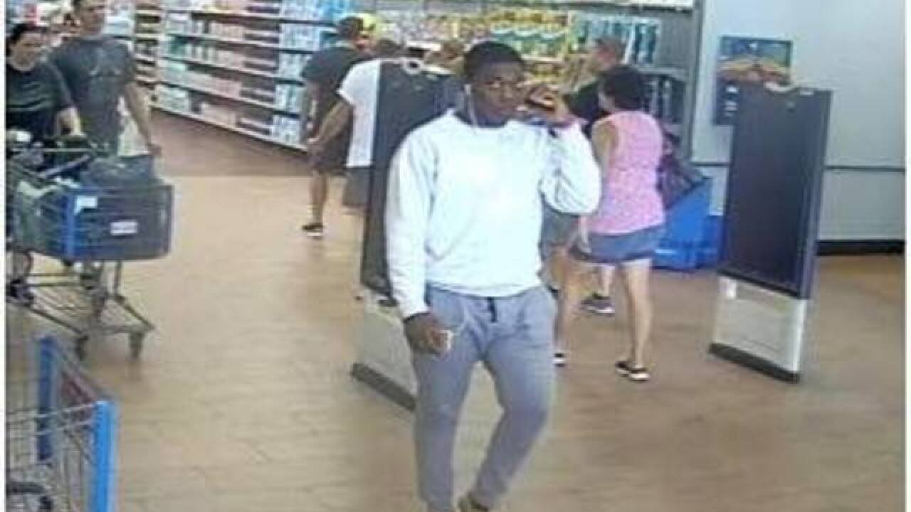 North Port Police search for Walmart thief