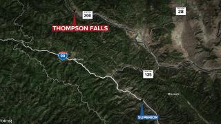 Thompson Falls Fatal Semi Accident Map